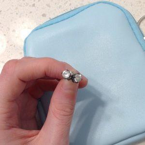 faux diamond stud earrings
